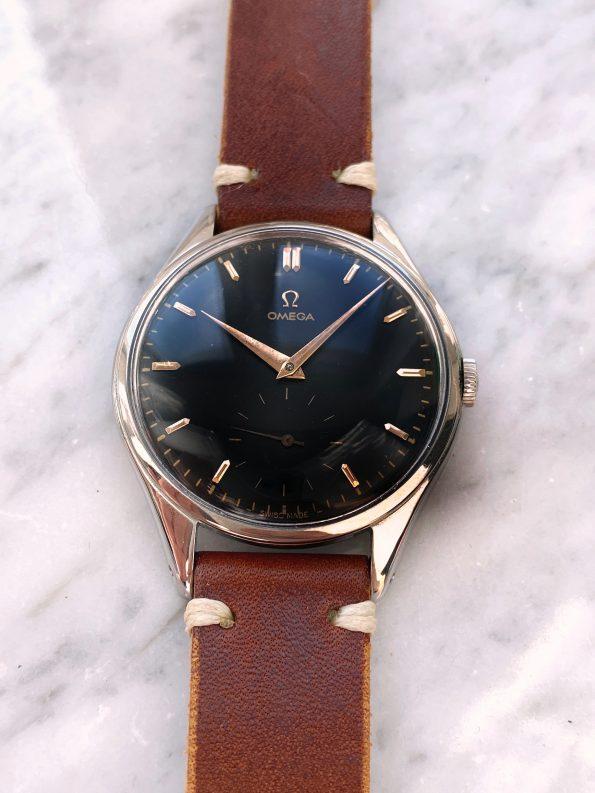 Serviced Vintage Omega Oversize Jumbo 38mm Black Restored Dial 2505