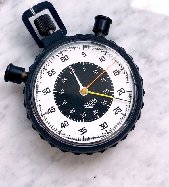 Vintage Heuer Stopwatch Fully Working Rattrapante Function
