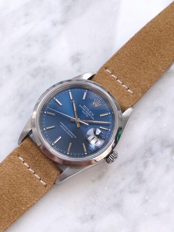 Vintage Rolex Date Blue Dial No Hole 15200 Automatic No Hole