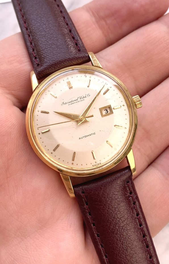 IWC Solid Gold Pie Pan Dial Vintage Automatic