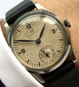 1935 32mm Military Omega Sector Dial