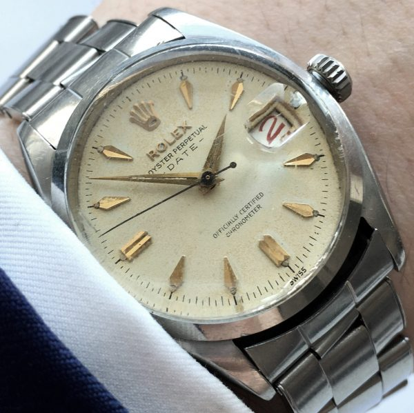 Rare Rolex Oyster Perpetual 1957 Ref 6534 Roulette Date