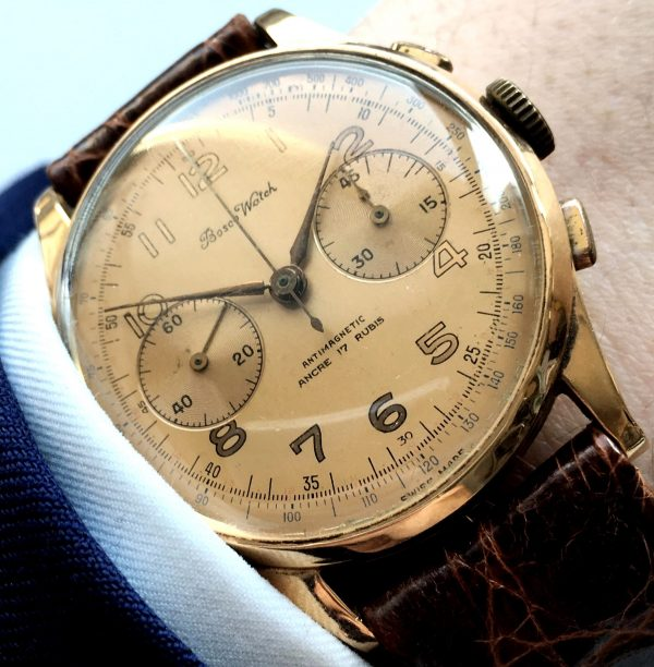 Cheap 18 Karat Solid Gold Vintage Chronograph 38mm