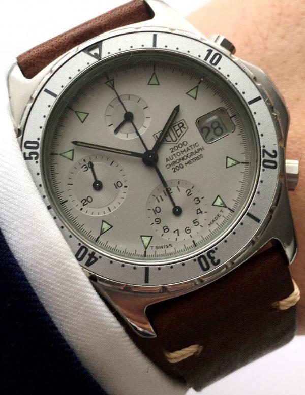 Vintage heuer 2000 automatic chronograph diver watch vintage portfolio - Heuer dive watch ...