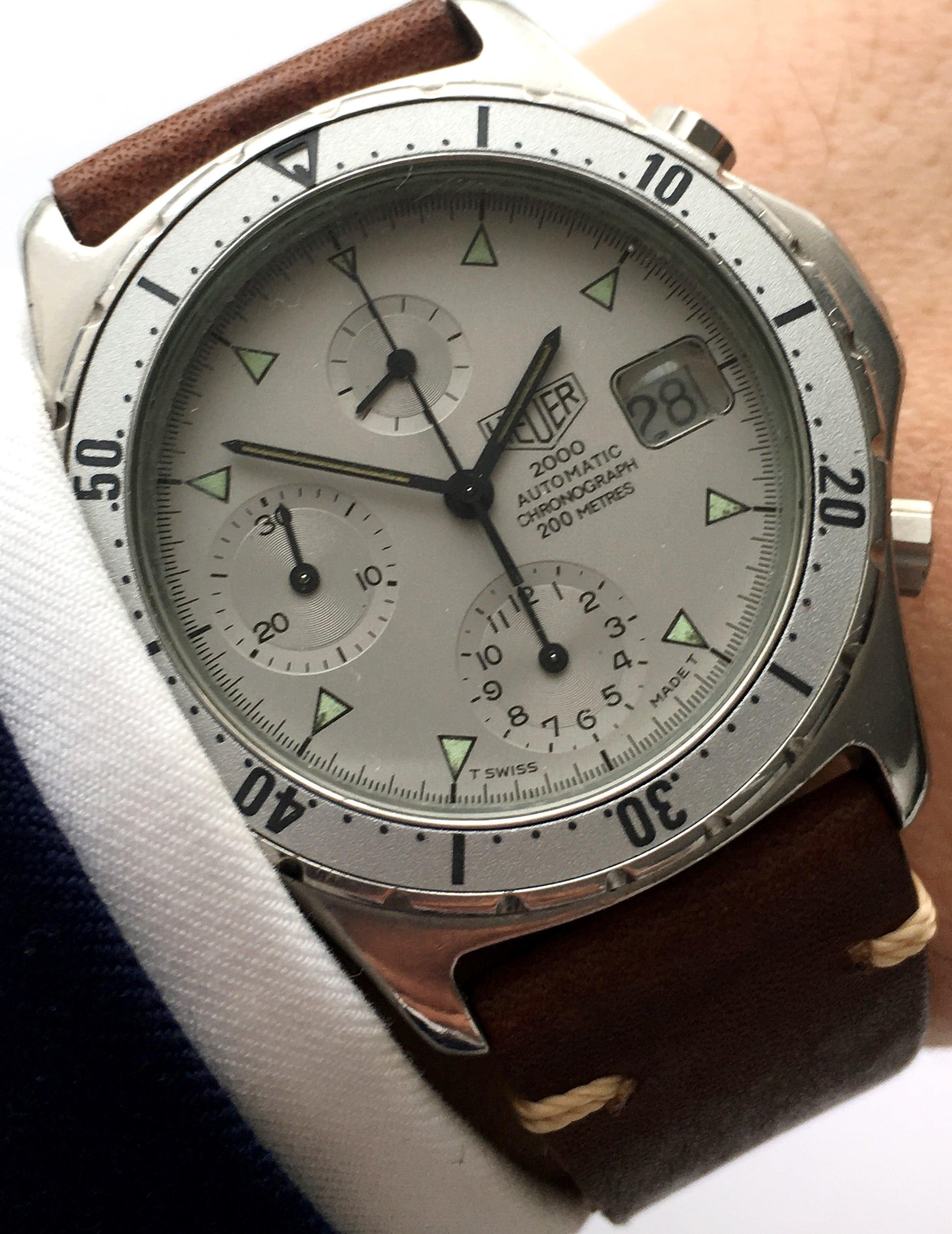 Vintage Heuer 2000 Automatic Chronograph Diver Watch ...