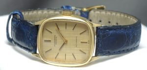 Solid Gold IWC Automatic Watch Ladies 18 ct Linen dial