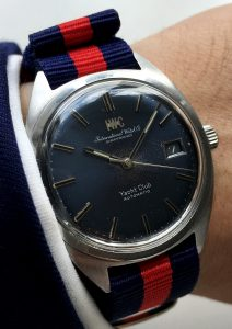 Serviced IWC Yacht Club Automatic blue dial 36mm Steel case