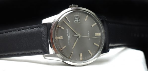 Amazing IWC Automatic Watch with grey linen dial Vintage
