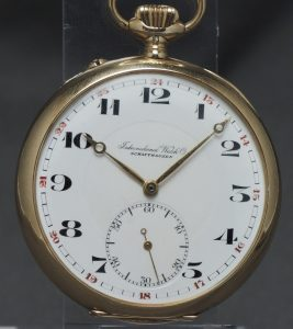 Perfect IWC Pocket Watch solid yellow gold