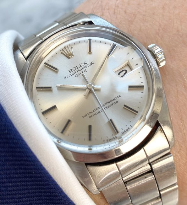 Vintage Rolex Date Ref 1500 Automatic Steel