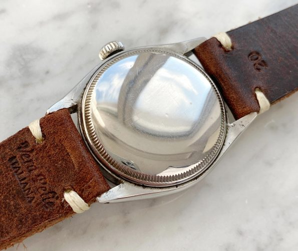Rare 1950ties Vintage Rolex Ref 6303 Engine Tuned Bezel Oyster Perpetual