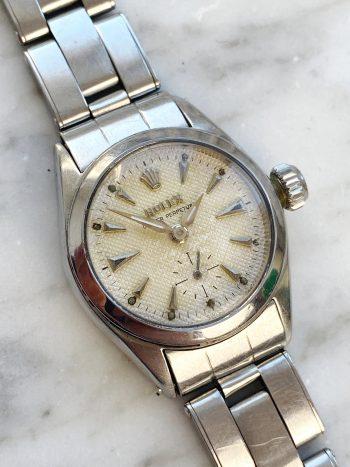 Vintage Rolex Lady Damen Honigwabenziffernblatt ref 6504