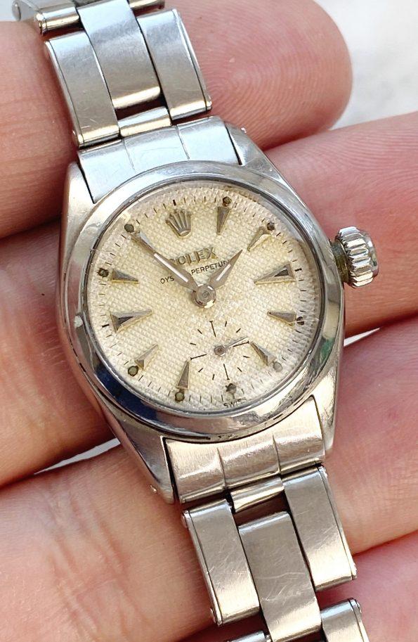 Vintage Rolex Lady Damen Honeycomb Dial ref 6504