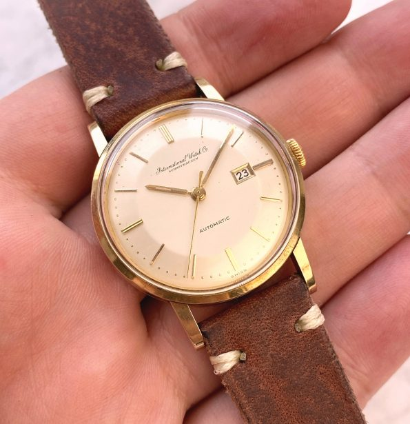 Wonderful IWC Solid Gold Pie Pan Dial Vintage Automatic