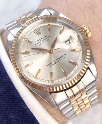 Extrem seltene und frühe Rolex Datejust Stahl/Rose Gold aus 1963