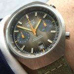 k28a Heuer Carrera Vintage brown dial (1)
