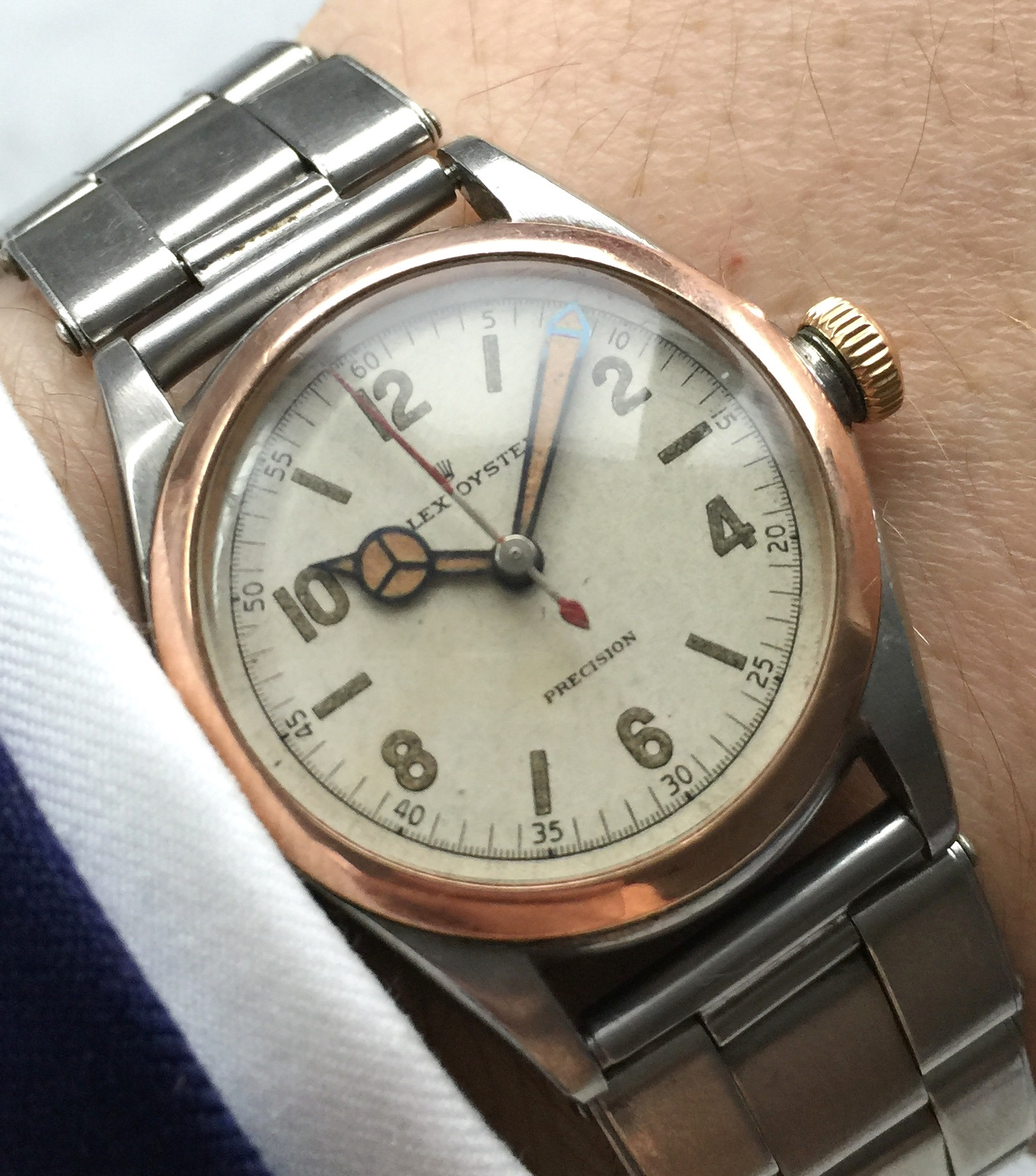 Rolex Oyster Damen Precision Lady from 1957 with Rolex Strap