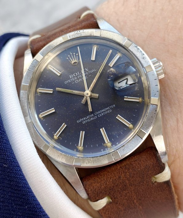 Beautiful Rolex 35mm ref 15010 Date Vintage Blue Dial similar to Datejust