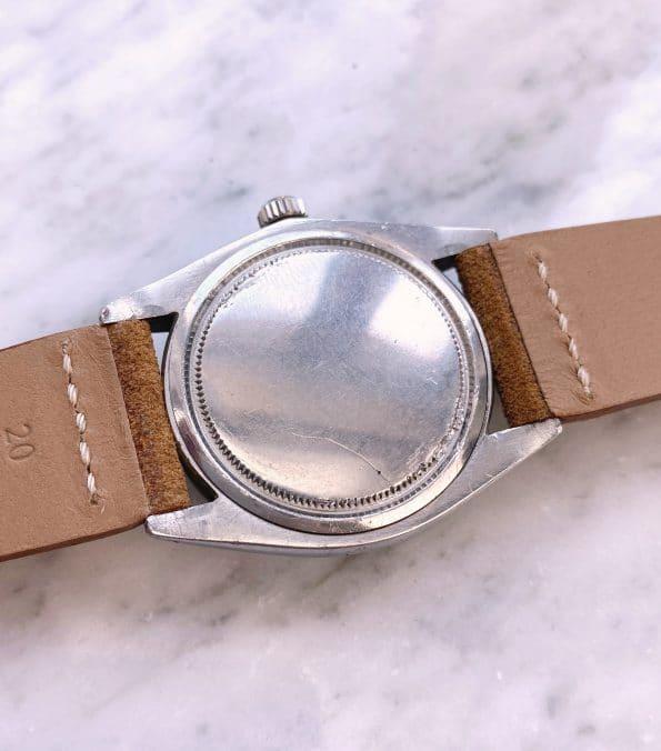 Black Gilt Dial Rolex Oysterdate Precision Vintage Handwinding 35mm