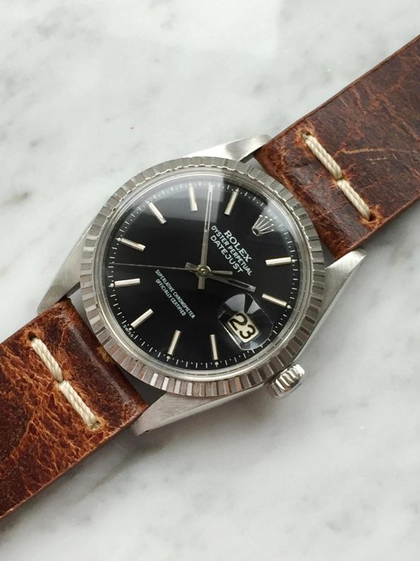 Sporty Rolex Datejust Automatic with refurbished black dial