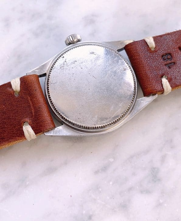 Rare Rolex 30mm Oyster Speedking Vintage Black Gilt Dial