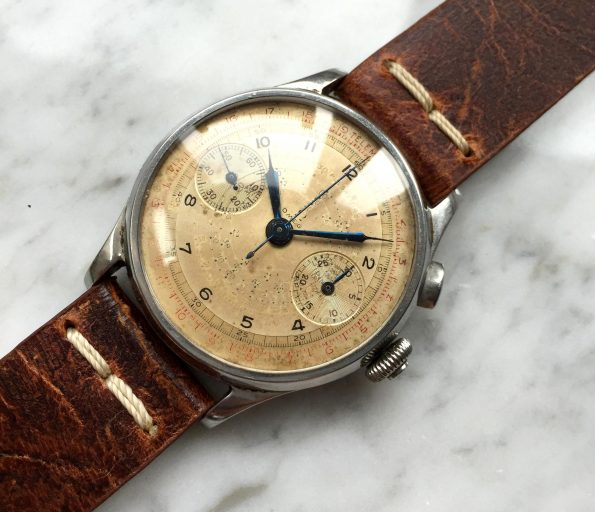 Seltener Omega 33.3 Vintage Chronograph 38mm PULSATION Dial GÜNSTIG