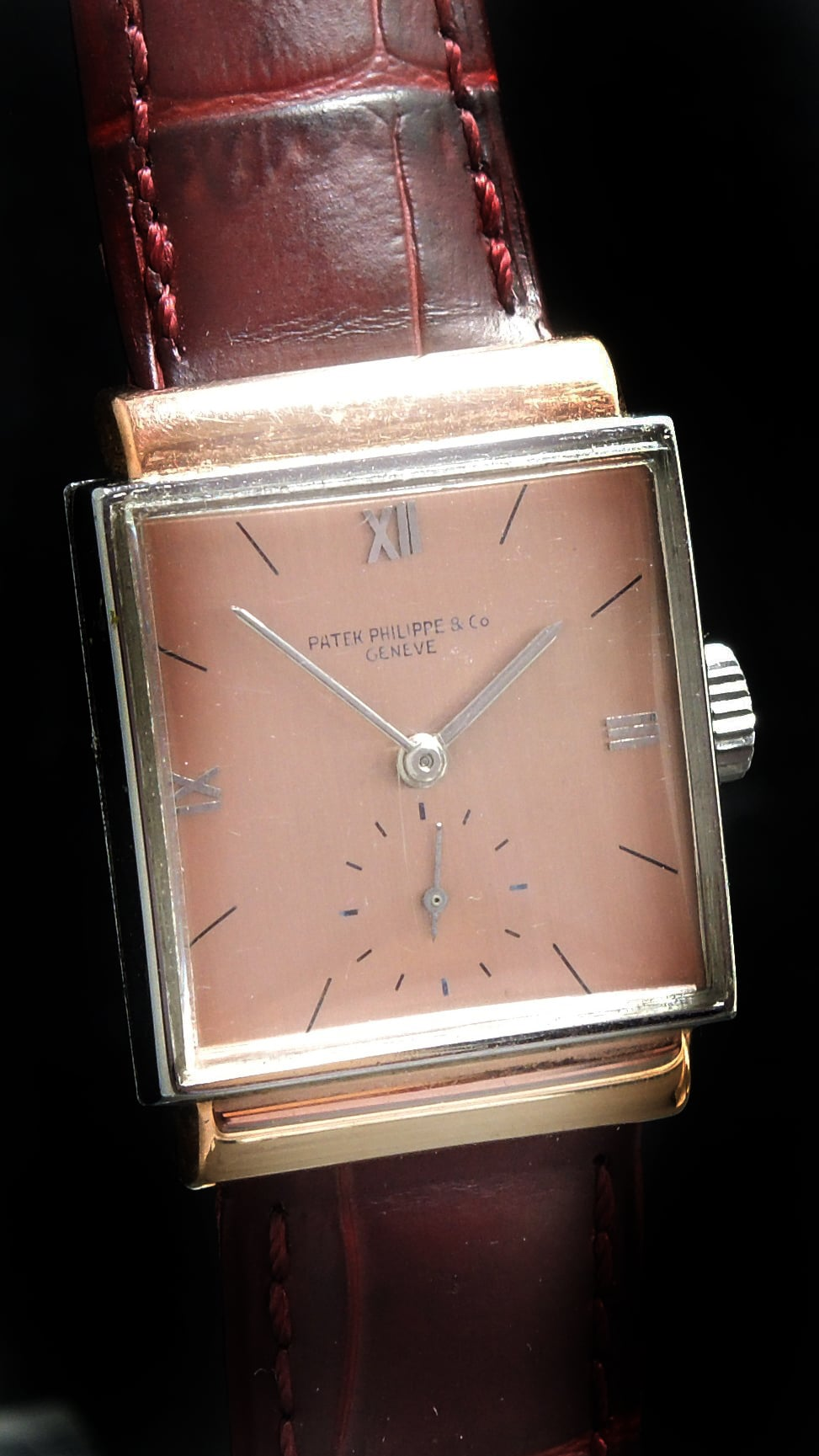 Patek Philippe Square Steel Pink Gold (steel case with pink gold lugs)