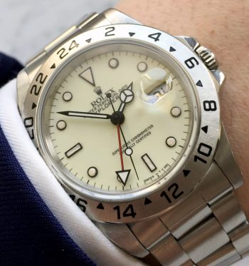 Cream Dialed Rolex Explorer 2 II Automatic 16570 Tritium Indices