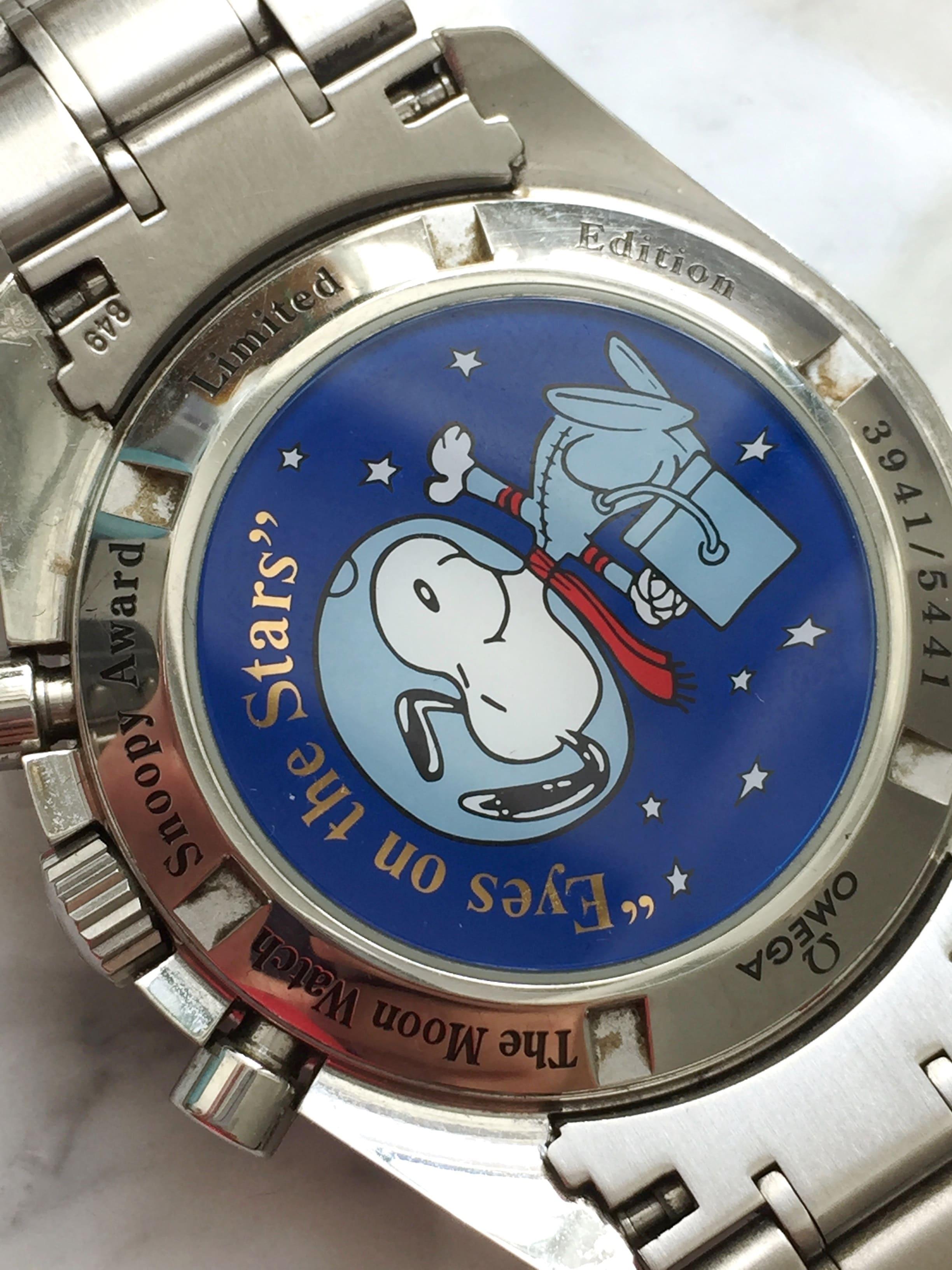 Rare Omega Speedmaster Moonwatch Snoopy Award Full Set Box Papers