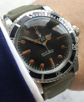 Great Vintage Rolex Ref 5513 Submariner Automatic Plexiglass 1968 Matte Non-Serif Feet First Dial