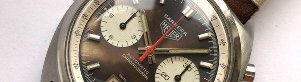 Heuer Carrera Vintage Chronograph Automatic purple-chocolate