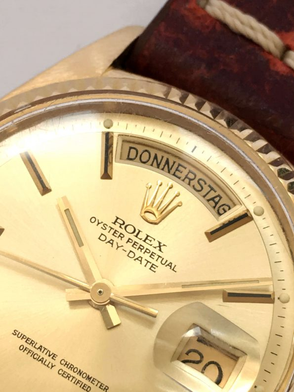18k Yellow Gold Rolex DayDate President Stepped Sigma Dial