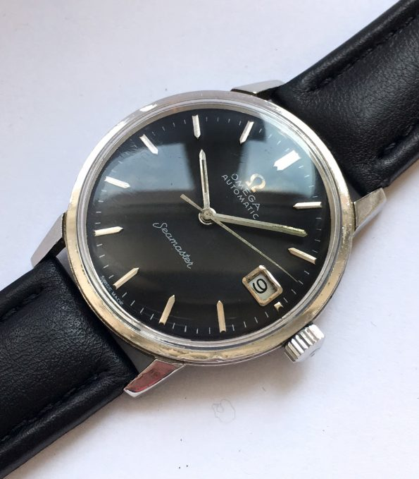 Great Vintage Omega Seamaster Automatic Date Black Dial