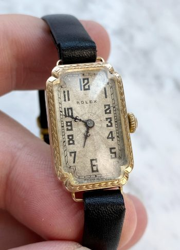 Vintage Rolex Ladies Art Deco 9 carat solid gold