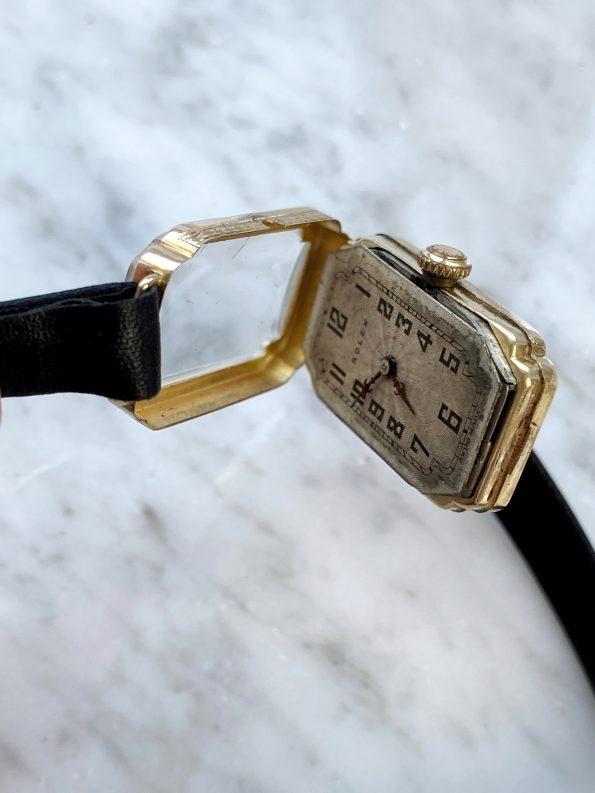 Vintage Rolex Damen Art Deco 9 karat Massivgold
