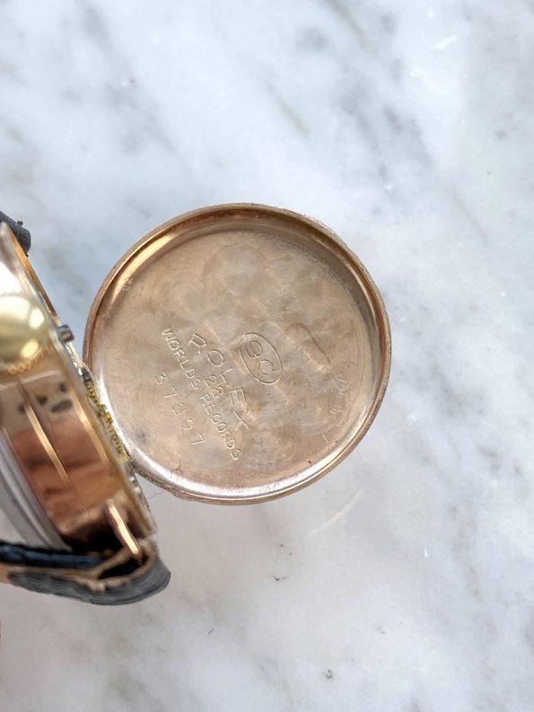 Vintage Rolex Lady Art Deco 9ct Solid ROSE Gold Hunter Caseback