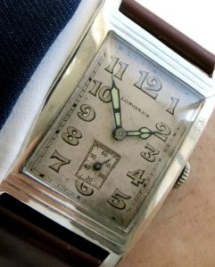Perfect Oversize Longines Tank Watch from the World War - Silver