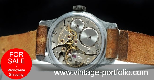 Wonderful early Longines Military watch