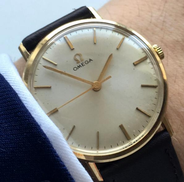 Servicierte Original Omega Ladys Watch Solid Gold
