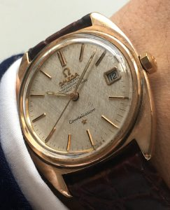 Red gold plated Omega Constellation Automatic with Date