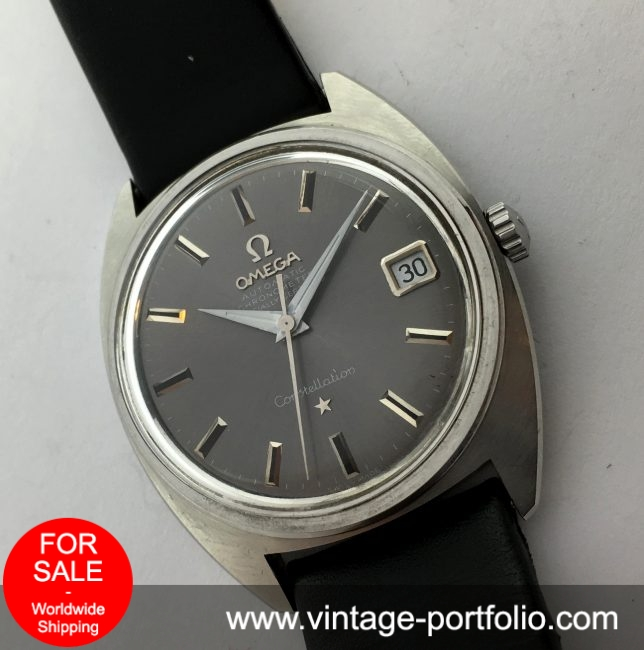 Amazing Omega Constellation with grey dial