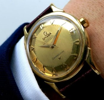 Omega Constellation de Luxe Automatic Pie Pan Solid Gold