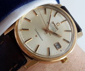 Pink gold plated 35mm Omega Constellation Automatic Vintage
