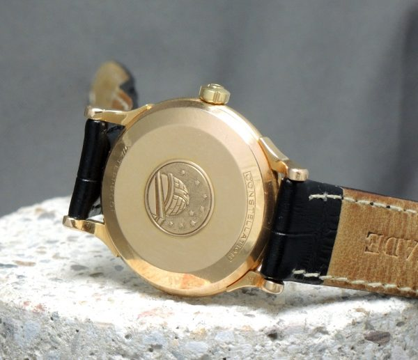 Pink Gold Omega Constellation De Luxe 18ct rose Pie Pan