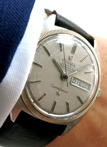 Genuine Omega Constellation Day Date with White Gold Bezel