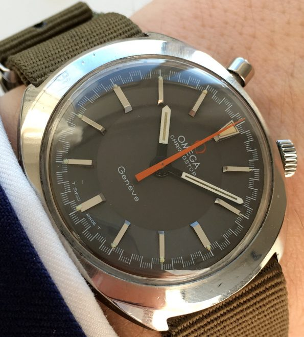 Serviced Omega Chronostop Race with Nato Strap