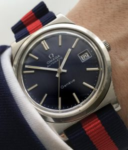 Omega 36mm Oversize Jumbo Geneve Automatic blue dial date