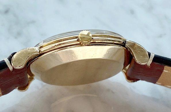 Vintage Omega Gold Plated Bumper Restored Black Dial