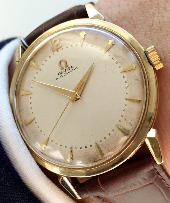 Genuine Omega Automatic Watch of Solid Gold – 35 mm