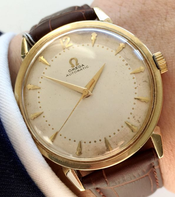 Genuine Omega Automatic Watch of Solid Gold - 35 mm